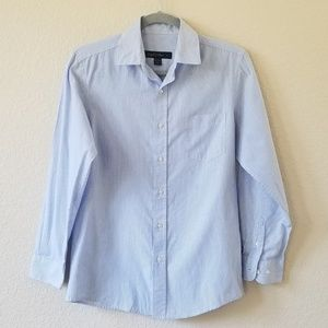 Joseph & Feiss youth size 16 blue white pinstriped